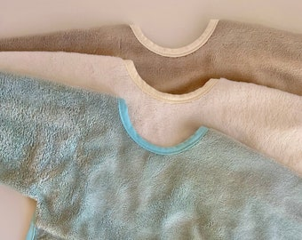 BAMBU terry cloth - Long sleeve bib - ULTRA SOFT!!!