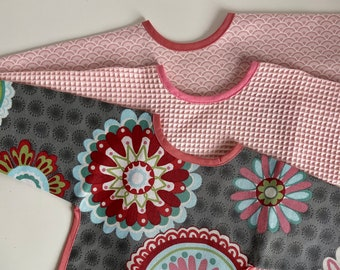 SET of 3 long sleeve bibs - different colours available - SPECIAL PRICE - small and large size