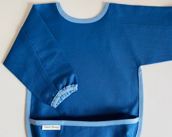 COMPLETE Long sleeve bib - elastic in cuffs & pouch included - small and large size