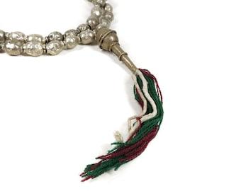 4 Tibetan Beads Fancy White Crackle Loose 125396