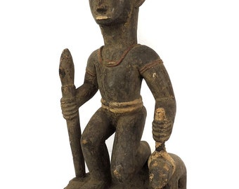 2 Brass Beads Nigeria Africa Old Loose 108504
