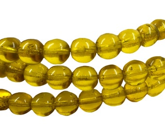 average average 5x8 mm P 4 set of 20 old opaque Bohemian glass beads from the African trade