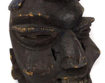 48b7d854696 Yoruba Gelede Mask with Blue Hat Nigeria Africa Gelb Collection 111529