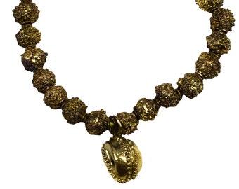 4 Vintage African Yoruba Bronze Brass Cup Beads Ethnic Tribal Metal Beads Jewelry Making Supplies SKU-FMB-55