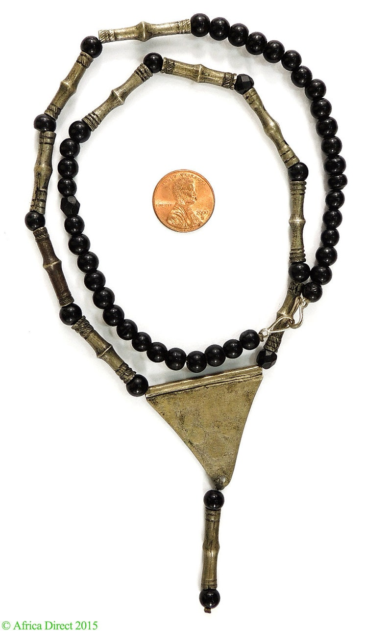 Tuareg Necklace with Silver Pendant Africa Old 97613