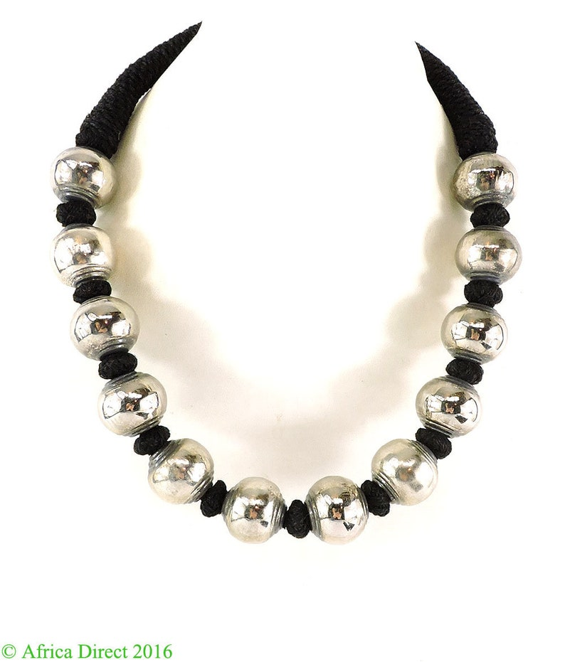 Handmade Taurus Star Sign Zodiac Tibetan Silver Necklace Choker