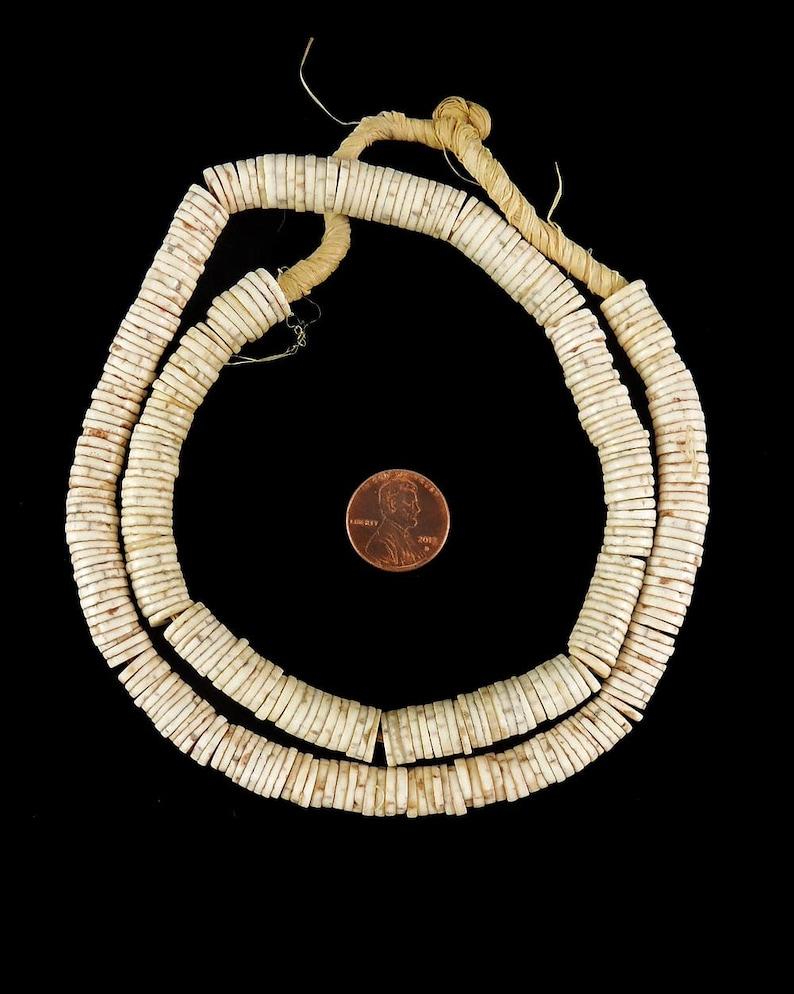 Ostrich Egg Shell Heishi Trade Beads Africa 123122