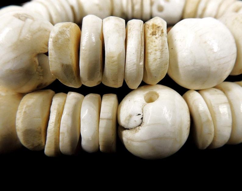 Tibetan Necklace Chank Shell Beads 127570