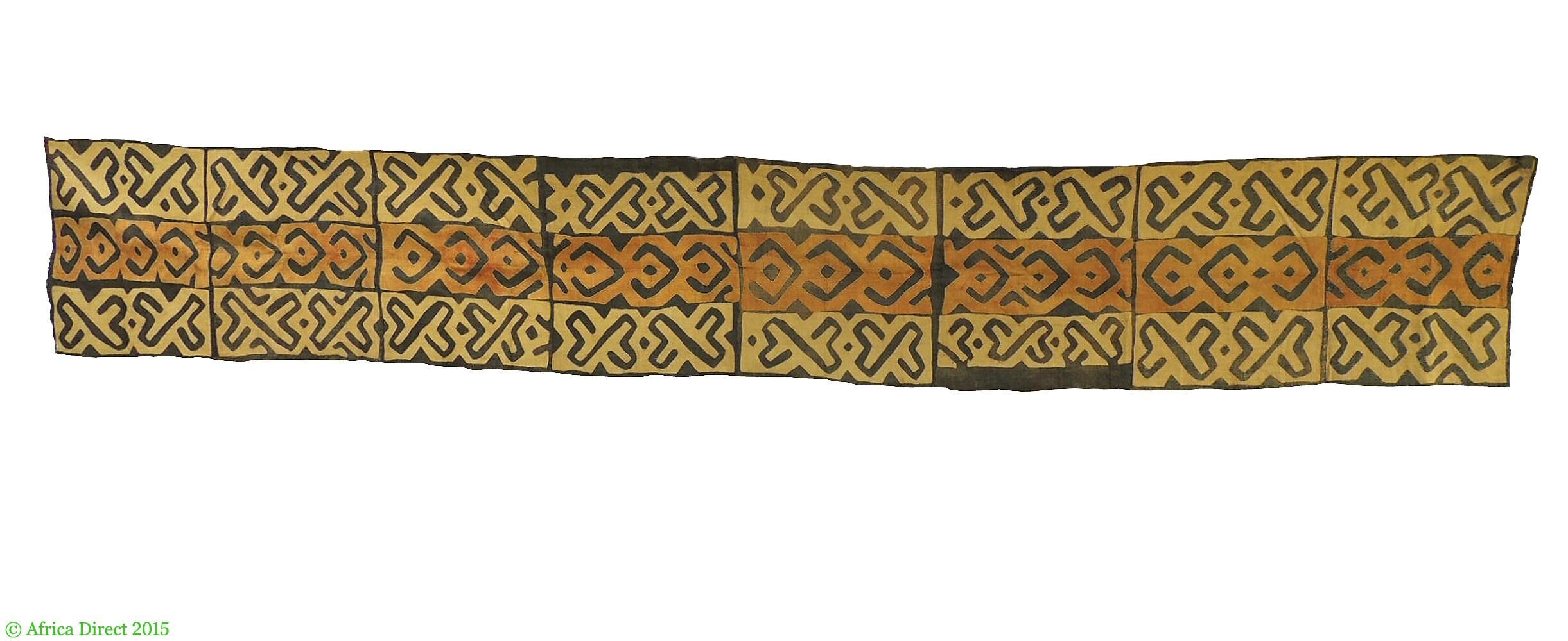 Kuba Textile Handwoven Handwoven Handwoven Appliquéd Raffia Congo 14 feet Africa 97863 28033b