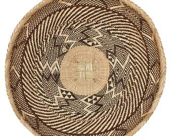 Tonga Basket Binga Zimbabwe African Art 15 Inch 138472