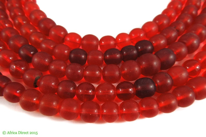 Cranberry Red Trade Beads Translucent Africa 95237