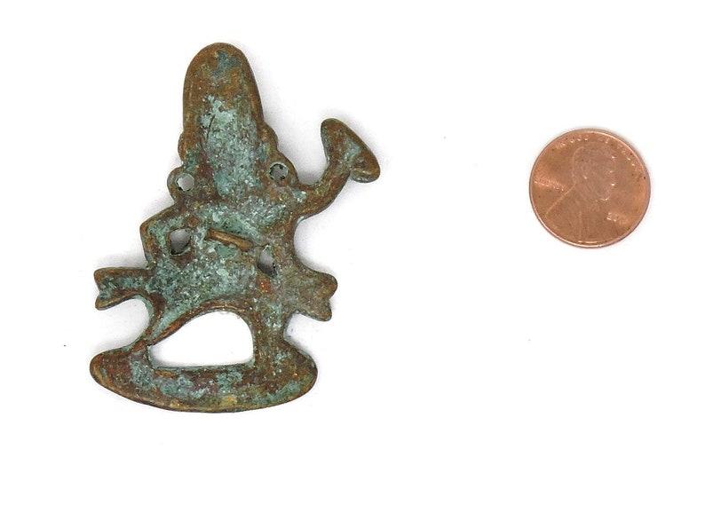 Tibetan Dorje Vajrapani Pendants Brass Loose 126370