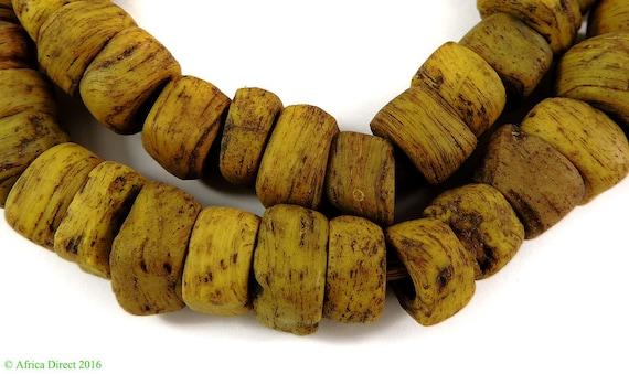 Commerce de Hébron jaune perles africaines 111837
