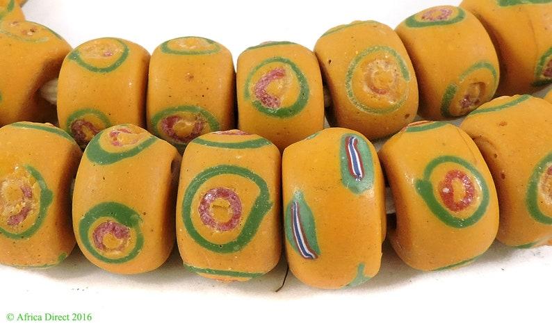 Venetian Trade Beads Yellow African Loose 104874
