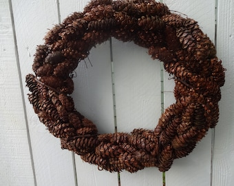 Pine Cone Wreath  Natural Wreath  Autumn Wreath  Door Wreath  Wreath  Fall Decorations  Rustic Wreath  Natural Wreath  Hand Crafted Wreath