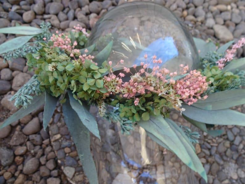 Floral Crown  Bridal Crown Boho Wedding  Eucalyptus Floral Crown  Wedding Decor   Wedding Accessories  Natural Bridal Crown   Made To Order