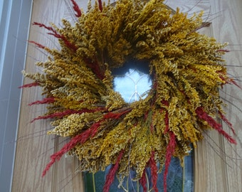 Autumn Wreath  Fall Wreath  Wreath Large Wreath  Front Door Wreath  Elegant Wreath  Natural Wreath Preserved Wreath  Gift Wall Deccorations