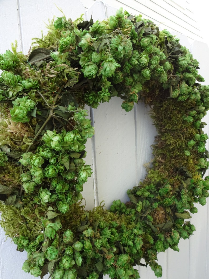 Saint Patrick S Day Wreath Tuscan Decor Hops Wreath Etsy