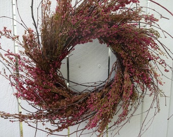 Natural Wreath  Summer Wreath  Twig Wreath Wedding Wreath Home Decor Front Door Wreath Indoor Wreath Wall Decor  Birch Wreath  Twigs