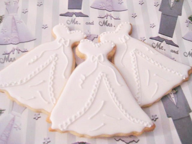 Wedding Gown cookie-FREE shipping image 0