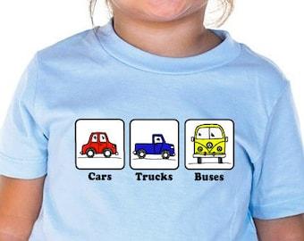 Phish Kids Shirt, Cars Trucks Buses