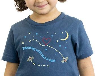 Phish Kids Shirt, Love & Light, Organic, Glows in the Dark!
