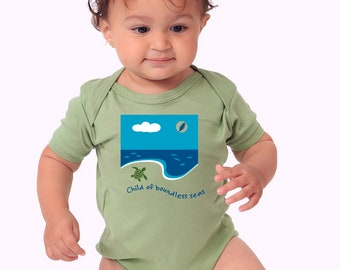 Grateful Dead Baby Bodysuit, Child of Boundless Seas, 6-12 months