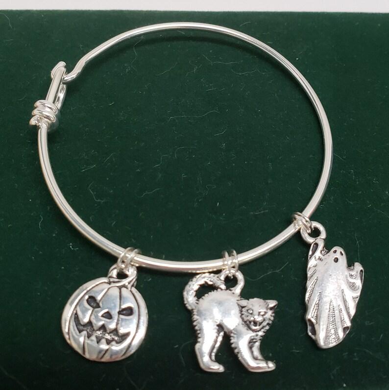 Halloween Charms Silver Bracelet