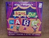 SEALED Walt Disney Presents - Acting Out the A B C 39 s - 1964 Vintage Vinyl Record Album