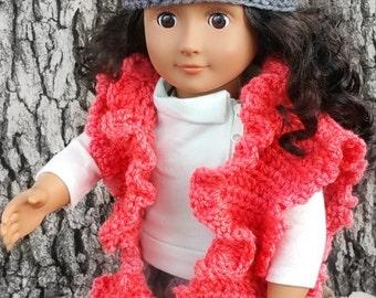 """Crochet Pattern - My Dolly Ruffled Ruana crochet pattern 18"""" doll pattern Crochet Pattern toy"""