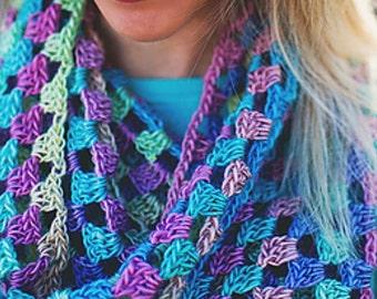 Chunky Scarf, Infinity Scarf Pattern, Cowl Pattern, Scarf Crochet Pattern, Gift for Her, Beginner Crochet, PDF Pattern