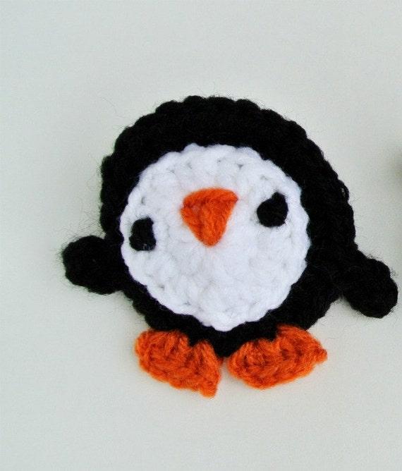 Häkelanleitung Verspielte Pinguin Applikation Häkelmuster Etsy