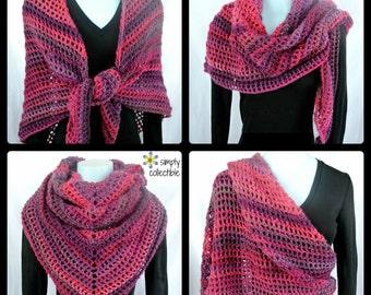 Boho Shawl, Chunky Scarf, Easy Crochet Patterns, Oversized Scarf, PDF Pattern, Gift For Women