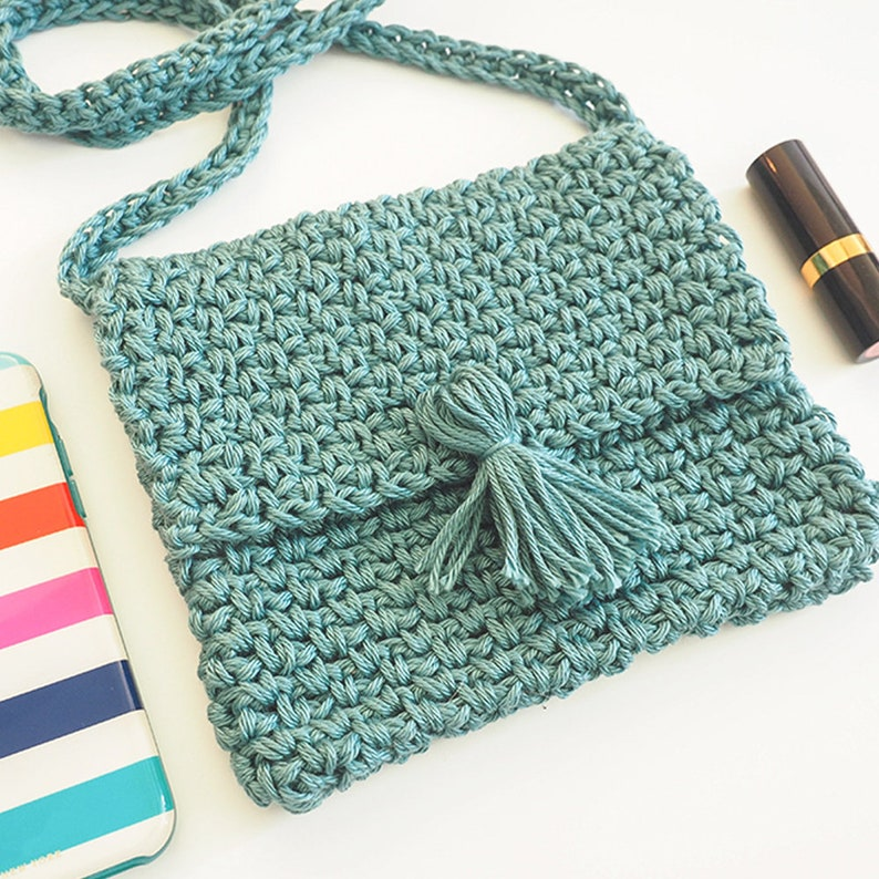 Cute Cross Body Bag Crochet Pattern Easy Crochet Patterns Etsy