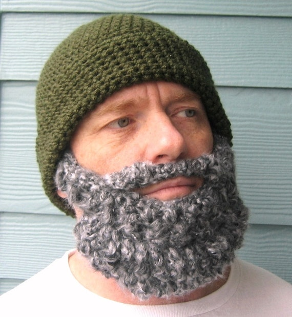 Lumberjack Party Beard Beanie Crochet Hat Pattern Gifts For