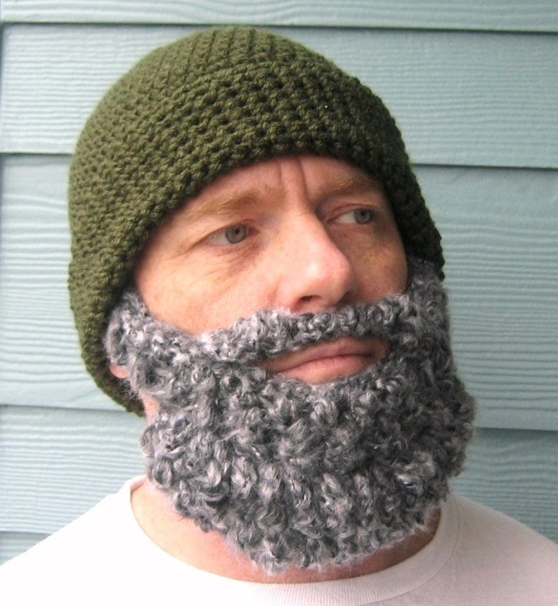 10a1a575b2f Lumberjack Party Beard Beanie Crochet Hat Pattern Gifts For