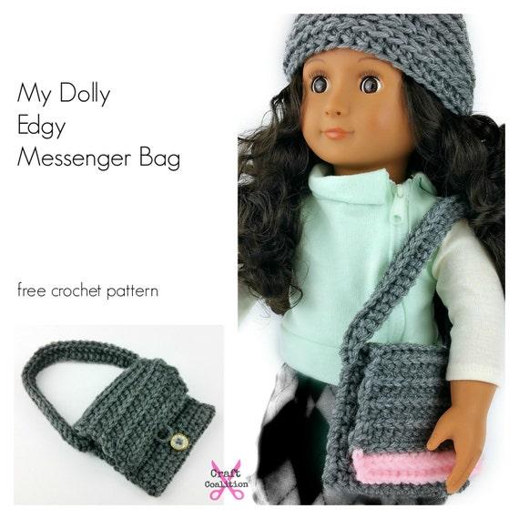 Crochet Pattern My Dolly Edgy Messenger Bag Crochet Pattern Etsy