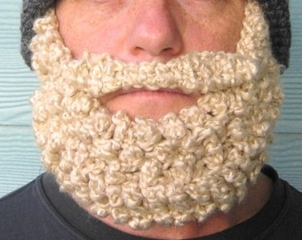 Crochet Pattern - Beard Beanie PATTERN Santa Claus Hat -Photo Tutorial in PDF- p127