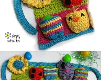 Crochet Pattern - Most Egg-cellent Spring Egg Apron crochet pattern - pdf