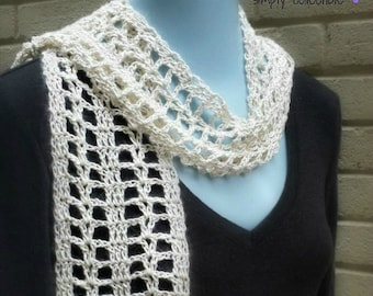 Crochet Pattern - Coraline's Summer Crush Scarf - Written Pattern PDF