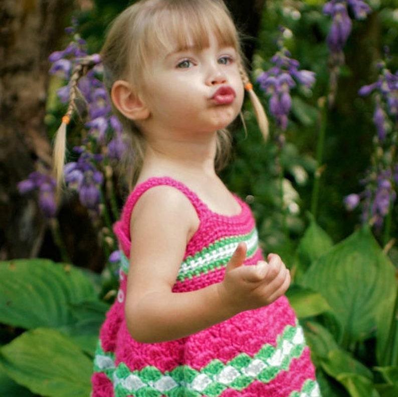 97206aea0 Crochet Baby Dress Pattern 6mo 9mo 12mo 2T 3T 4T 5T