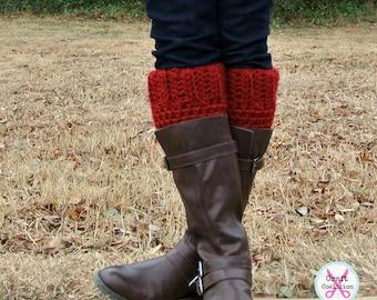 "Crochet Pattern Boot Cuffs - 14"" to 28"" - Photo Tutorial in PDF- p153"