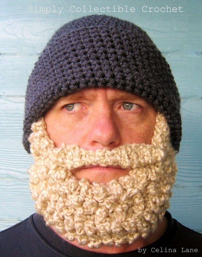 45d604d3275 Crochet Beard Beanie Boyfriend Gift Crochet Hat Patterns