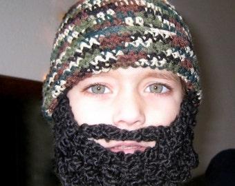 Crochet Hat Pattern Crochet Beard Pattern Child Beard Hat Pattern- Baby Beanie, Full Beard, Santa Claus
