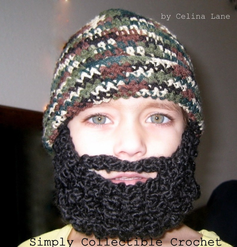 Crochet Hat Pattern Crochet Beard Pattern Child Beard Hat Pattern  b66d5174669c