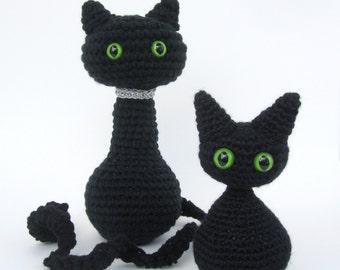 Crochet Cat Amigurumi Pattern, Amigurumi Cat Toy, Crochet Doll Pattern, Nursery Decor, PDF Pattern