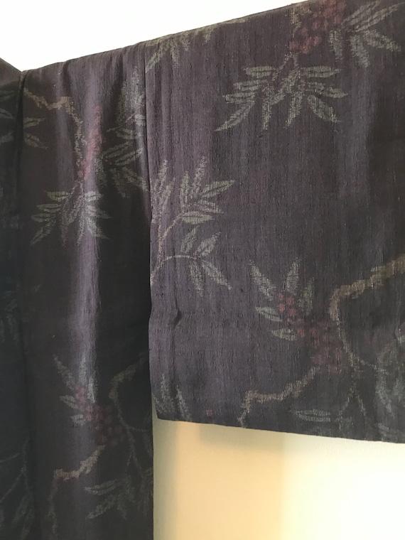 Antique Silk Kimono / Yuki Tsumugi Chijimi / Real