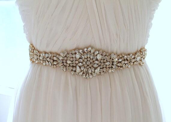 Clear Rose Gold Handmade Crystal Parches Rhinestone Applique para el marco nupcial y cinturones