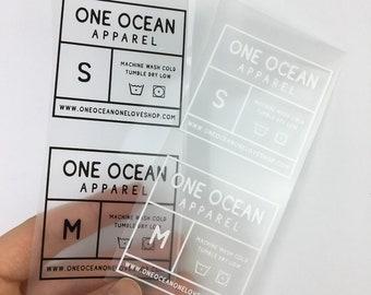 3712badf9 500 Tagless labels, iron on printed labels, Custom Heat Transfer Label, heat  transfer vinyl