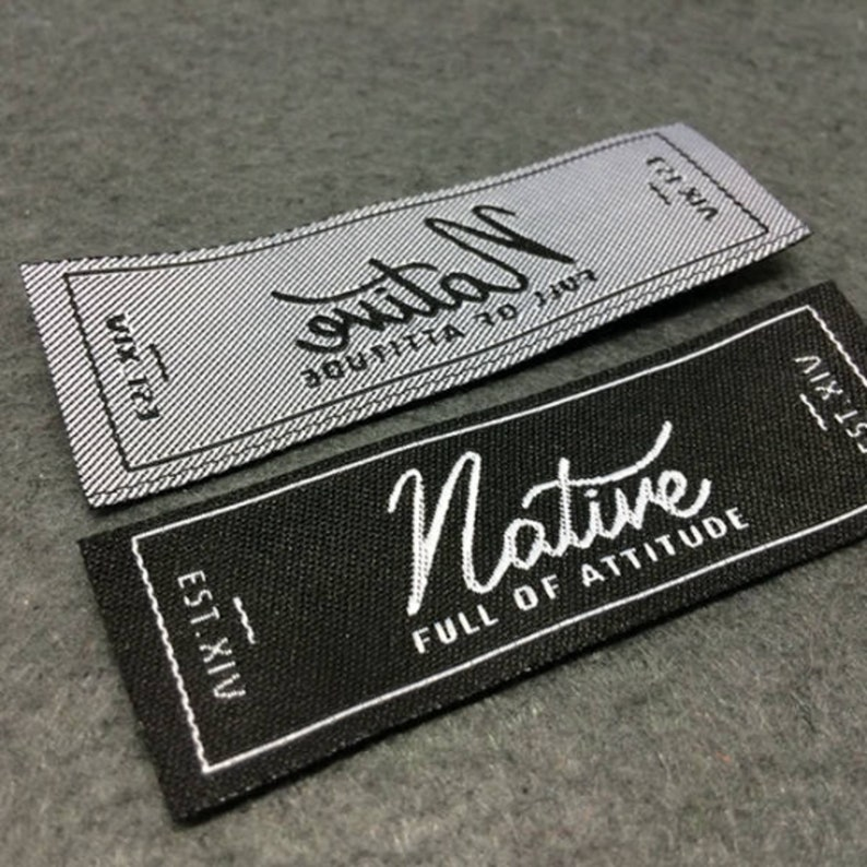 Woven Labels Woven Label Basic Name Labels Custom Woven